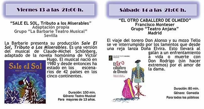 programa Certamen Nacional Teatro Aficionado 2017